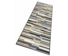 wash+dry by Kleen-Tex Läufer Mikado Stripes, rechteckig, 7 mm Höhe, In- und Outdoor geeignet, waschbar beige Teppichläufer Bettumrandungen Teppiche