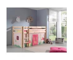 Vipack Hochbett Pino, wahlweise mit Rutsche braun Kinder Hochbetten Kinderbetten Betten