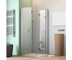 maw by GEO Eckdusche A-E400, ebenerdiger Einbau möglich silberfarben Bodenablauf Duschkabinen Duschen Bad Sanitär