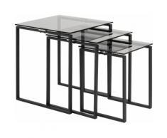 andas Satztisch Karolina (3 Stück) braun Beistelltische Tische Tisch