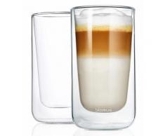 BLOMUS Thermoglas NERO, (Set, 2 tlg.), Doppelwandig, Inhalt 320 ml, 2-teilig farblos Doppelwandige Gläser Glaswaren Haushaltswaren