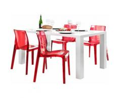 SalesFever Essgruppe (Set 5-tlg), rot, Rot transparent