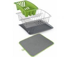 Metaltex Geschirrständer Aquanet, grün, Neutral, grün-grau