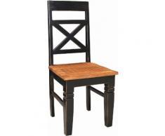 SIT 4-Fußstuhl Corsica, Shabby Chic, Vintage schwarz 4-Fuß-Stühle Stühle Sitzbänke