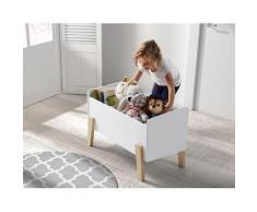 Vipack Spielzeugtruhe Kiddy, MDF-Oberfläche weiß Kinder Kindermöbel Möbel sofort lieferbar