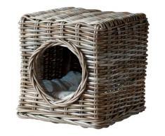 SILVIO design Tierbett Milo, Katzenhoehle, BxLxH: 35x35x35 cm beige Katzenkörbe -kissen Katze Tierbedarf