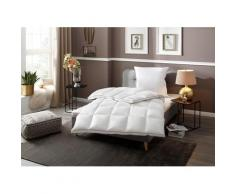 RIBECO Gänsedaunenbettdecke + Kopfkissen Superior, (Spar-Set), stilvoll dekoratives Aussehen mit durchdachten Wohlfühleigenschaften weiß Allergiker Bettdecke Bettdecken Bettdecken, Unterbetten