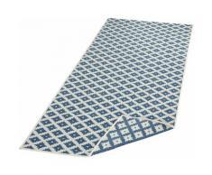 Läufer, Nizza, bougari, rechteckig, Höhe 5 mm, maschinell gewebt blau Küchenläufer Läufer Bettumrandungen Teppiche