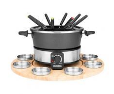 Gastroback Fondue 42566, 8 Fonduegabeln, 1,8 Liter silberfarben Küchenkleingeräte Haushaltsgeräte Fondues
