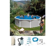 KONIFERA Rundpool Malaga I (Set) grau Swimmingpools Pools Planschbecken Garten Balkon