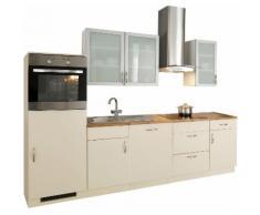 wiho Küchen Küchenzeile Peru EEK E beige Küchenzeilen mit Geräten -blöcke Küchenmöbel Arbeitsmöbel-Sets