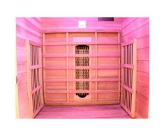 Dewello Infrarotkabine Toronto, für 1 Person beige Infrarotkabinen Sauna Bad Sanitär