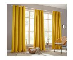 Verdunkelungsvorhang Sola my home Ösen 1 Stück, gelb, messingfarben
