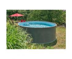 KONIFERA Rundpool Premium (Set) grau Swimmingpools Pools Planschbecken Garten Balkon