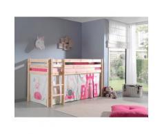 Vipack Hochbett Pino, wahlweise mit Rutsche rosa Kinder Hochbetten Kinderbetten Betten