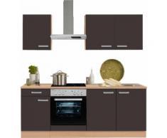 OPTIFIT Küchenzeile ohne E-Geräte »Odense«, Breite 210 cm, grau, anthrazit