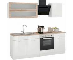 HELD MÖBEL Küchenzeile Utah, ohne E-Geräte, Breite 210 cm weiß Küchenzeilen Geräte -blöcke Küchenmöbel