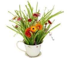 DELAVITA Kunstblume Sylke, in Pflanztasse aus Metall orange Künstliche Zimmerpflanzen Kunstpflanzen Wohnaccessoires