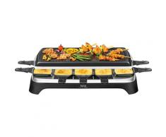 Tefal Raclette RE4588, 10 Raclettepfännchen, 1350 Watt schwarz Küchenkleingeräte Haushaltsgeräte