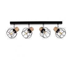 BRITOP LIGHTING Deckenleuchte Phiphi, E27, 1 St., Dekorative Leuchte aus Metall mit Elementen Eichenholz FSC-Zertifikat, passende LM E27 / exklusive, Made in Europe schwarz Deckenleuchten Lampen Leuchten sofort lieferbar
