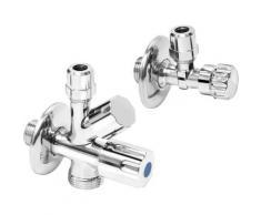 CORNAT Eckventil Geräteanschlussset, für den Anschluss einer Wasch- oder Spülmaschine silberfarben Sanitärtechnik Bad Sanitär