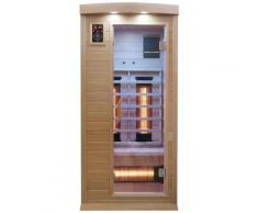 Dewello Infrarotkabine Pierson Dual-Therm, für 1 Person beige Infrarotkabinen Sauna Bad Sanitär