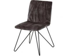 Villeroy & Boch Polsterstuhl MATEO grau 4-Fuß-Stühle Stühle Sitzbänke