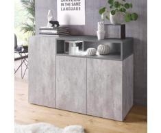 Tecnos Sideboard Negron, grau, beton/zement