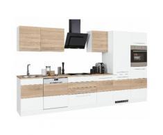 HELD MÖBEL Küchenzeile Trient mit E-Geräten Breite 360 cm, weiß, weiß/eichefarben