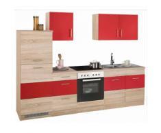 HELD MÖBEL Küchenzeile Perth, ohne E-Geräte, Breite 270 cm rot Küchenzeilen Geräte -blöcke Küchenmöbel