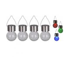 näve LED Gartenleuchte CRACKLE BALL silberfarben Gartenleuchten Außenleuchten Lampen Leuchten