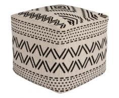 bougari Sitzkissen Kuba, In- und Outdoor geeignet, Pouf, waschbar schwarz Stuhlkissen Kissen Kopfkissen