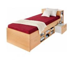 Breckle Bett, rot, buchefarben