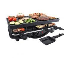 Steba Raclette RC 28, 8 Raclettepfännchen, 1400 Watt schwarz Küchenkleingeräte Haushaltsgeräte