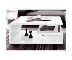 Paroli Couchtisch, Weiß Hochglanz mit Ablagemöglichkeiten weiß Couchtisch Couchtische Tische Möbel sofort lieferbar