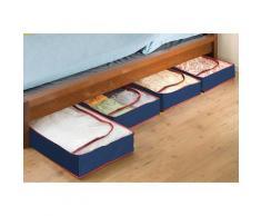 WENKO Unterbettkommode, (Set, 4 St.), aus recyclingfähigem Material blau Körbe Boxen Regal- Ordnungssysteme Küche Ordnung Unterbettkommode