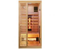 Dewello Infrarotkabine Hamlin Vollspektrum, für 1 Person beige Infrarotkabinen Sauna Bad Sanitär