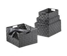locker Aufbewahrungskorb schwarz Körbe Boxen Regal- Ordnungssysteme Küche Ordnung