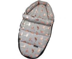 Gesslein Babywanne Baby Nestchen, grau meliert/Flamingos, für Kinderwagenwannen, Tragetaschen, Babyschalen und den Sportwagensitz des Kinderwagens Babybadewannen Badewannen Whirlpools Bad Sanitär