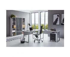 BMG Büro-Set Tabor Office 3 (Set, 6-tlg) grau Arbeitszimmer Büro Made in Germany - Möbel Arbeitsmöbel-Sets