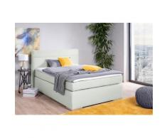 alina Boxspringbett Nikki, inklusive Matratze und Topper, Füße in Buche natur weiß Polsterbetten Betten Schlafzimmer