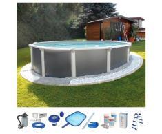 KWAD Rundpool (Set) grau Swimmingpools Pools Planschbecken Garten Balkon