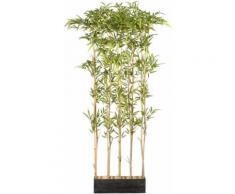 Creativ green Künstliche Zimmerpflanze Bambusraumteiler, im Holzkasten grün Zimmerpflanzen Kunstpflanzen Wohnaccessoires