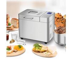 Unold Brotbackautomat Backmeister Edel 68456, 16 Programme, 550 W, bis zu 1.000 g Brotgewicht silberfarben Küchenkleingeräte SOFORT LIEFERBARE Haushaltsgeräte