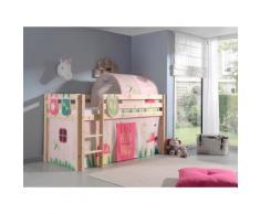 Vipack Hochbett Pino, wahlweise mit Rutsche rosa Betten Möbel Aufbauservice