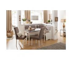 Home affaire Essgruppe Spree (Set 5-tlg), weiß, weiß/braun