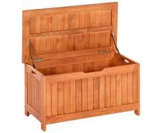 MERXX Kissenbox, Eukalyptus braun Kissenbox Garten- Kissenboxen Gartenmöbel Gartendeko