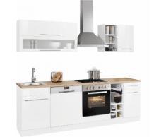 HELD MÖBEL Küchenzeile Eton, mit E-Geräten, Breite 240 cm EEK C weiß Küchenzeilen Geräten -blöcke Küchenmöbel Arbeitsmöbel-Sets