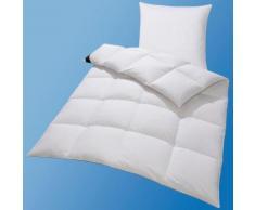 Daunenbettdecken + Kopfkissen Lea Hanse by RIBECO warm, weiß, warm