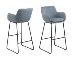 andas Barhocker Lene (Set, 2 Stück) blau 4-Fuß-Stühle Stühle Sitzbänke Hocker